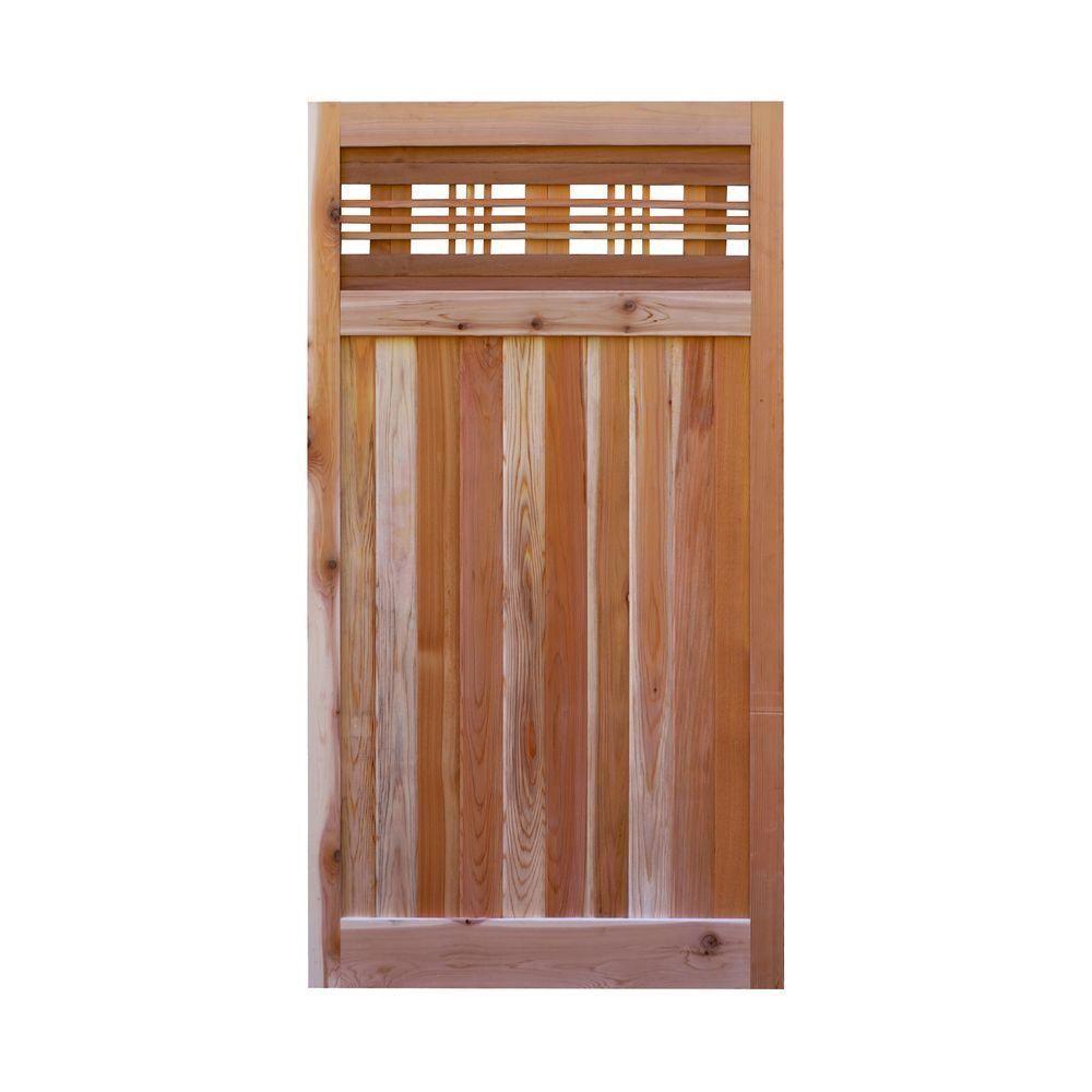 Signature Development 3 Ft X 6 Ft Western Red Cedar Flat Top Horizontal Lattice Fence Gate Wood Fence Gates Lattice Fence Fence Gate