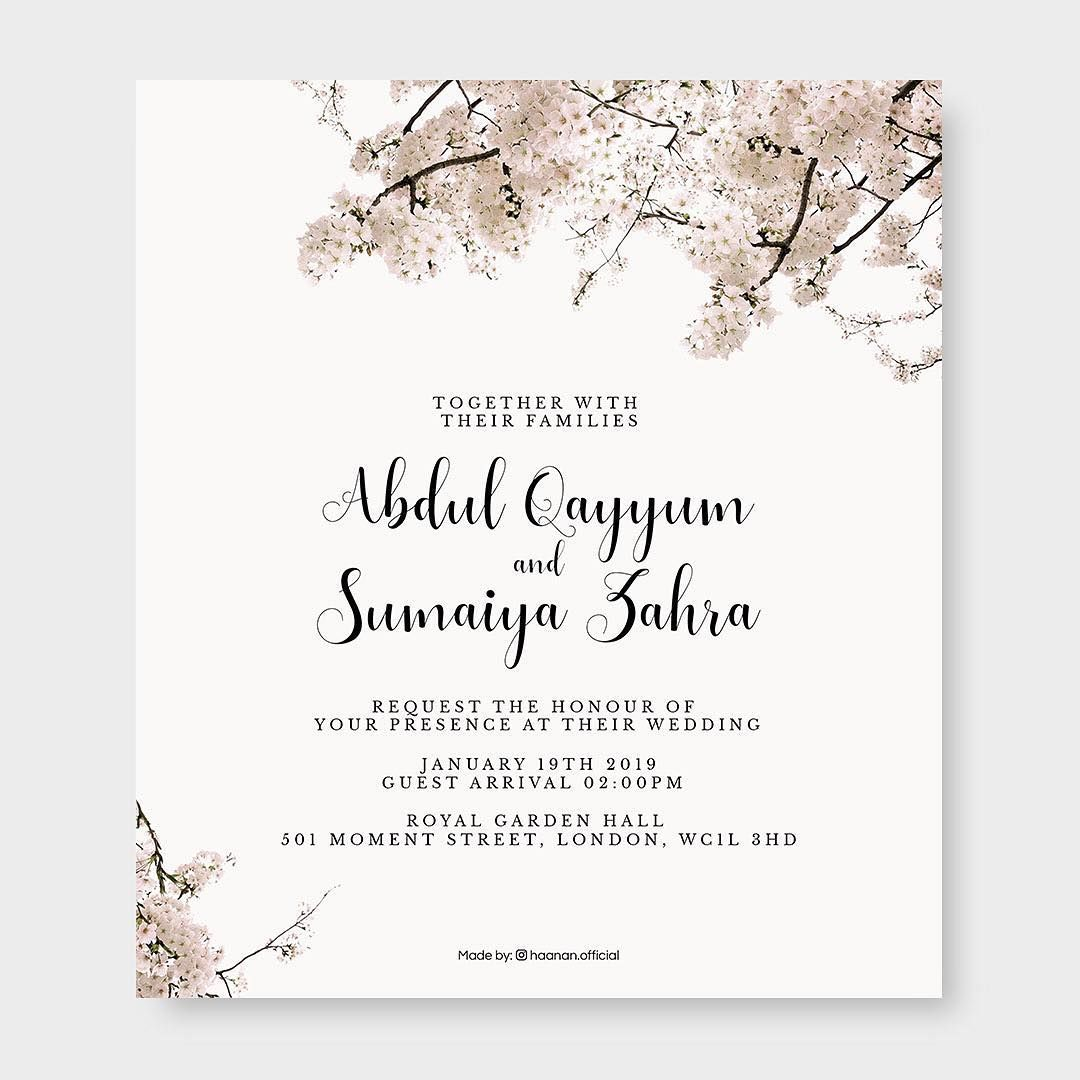 5 Islamic Wedding Invitation Card Designs For Muslims in 5