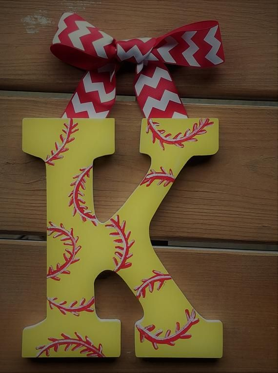 Girly Sports Letters -- Hand Painted Wall Letters -- Price