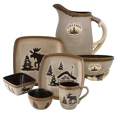 I love my Moose Dish Set! I only have a plate bowl and cup. I want the whole set tho!!! I wish it werenu0027t do expensive  sc 1 st  Pinterest & I love my Moose Dish Set! I only have a plate bowl and cup. I want ...
