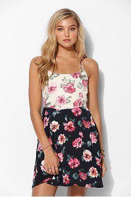 Glamorous Floral Print-Mix Slip Dress