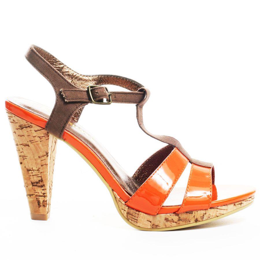Restricted Khiara T-strap - Orange