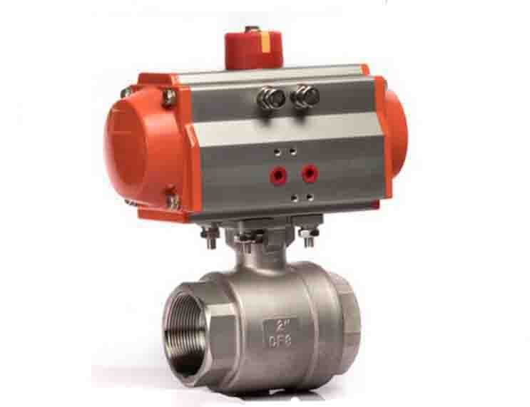 1 2 Inch 2 Pieces Pneumatic Operated Stainless Steel Ball Valve Stainless Steel Ball Valve