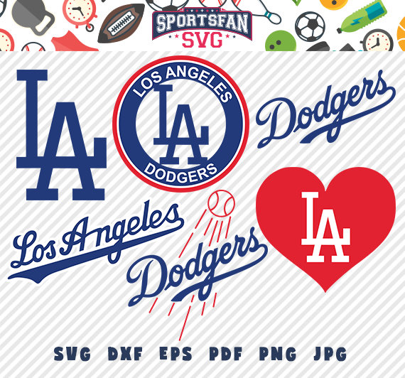 Ladodgers Losangelesdodgers Losangeles Dodgers Logo Svg Pack Baseballteam Baseballleague Baseball Dodgers Los Angeles Dodgers Cricut Projects Vinyl