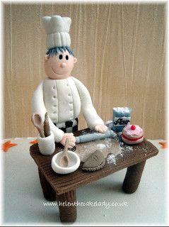 Edible Chef Cake Topper