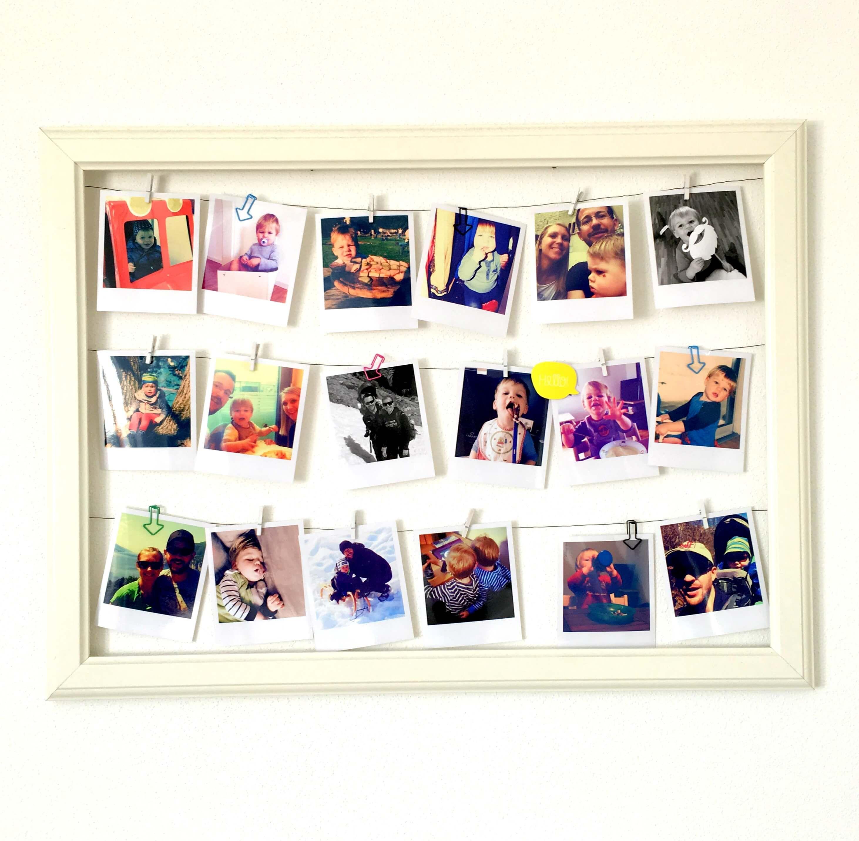 Bilderrahmen / Memoboard mit Polaroids | Pinterest | Picture walls ...