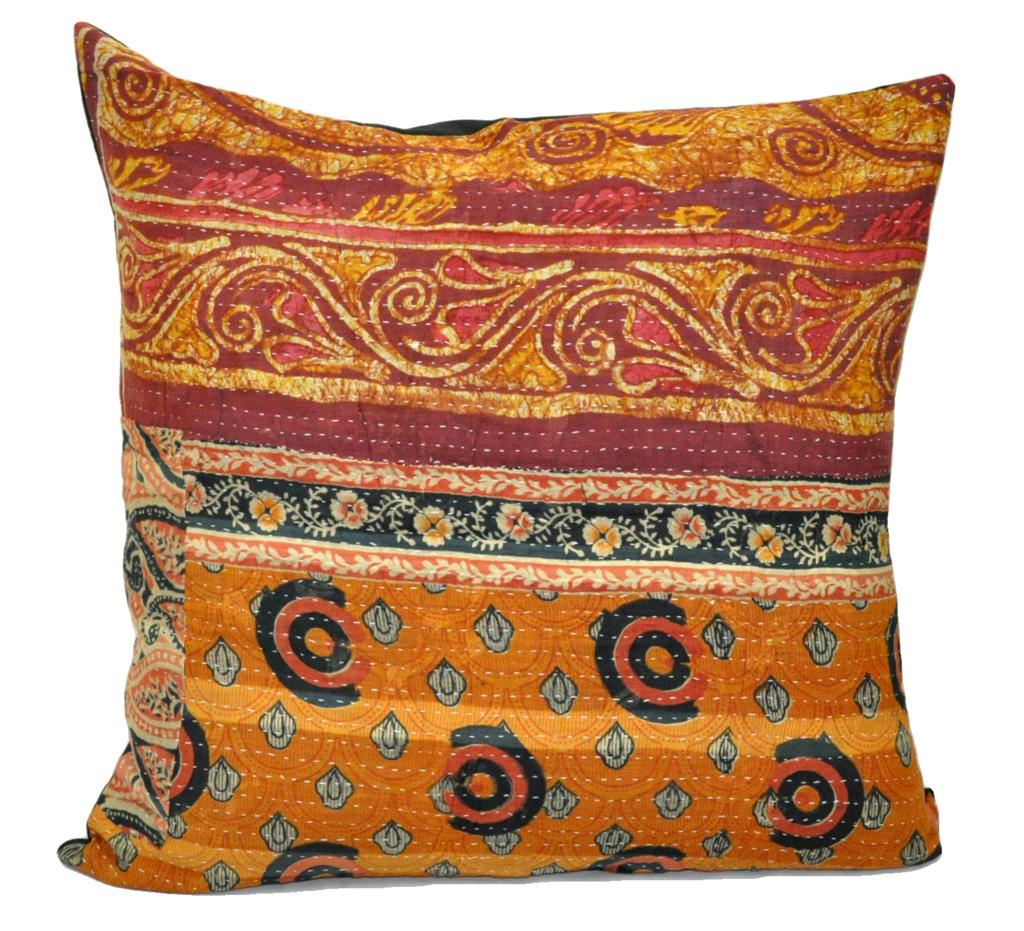 24 Extra Large Sofa Throw Pillows Indian Kantha Cushion Cute P3