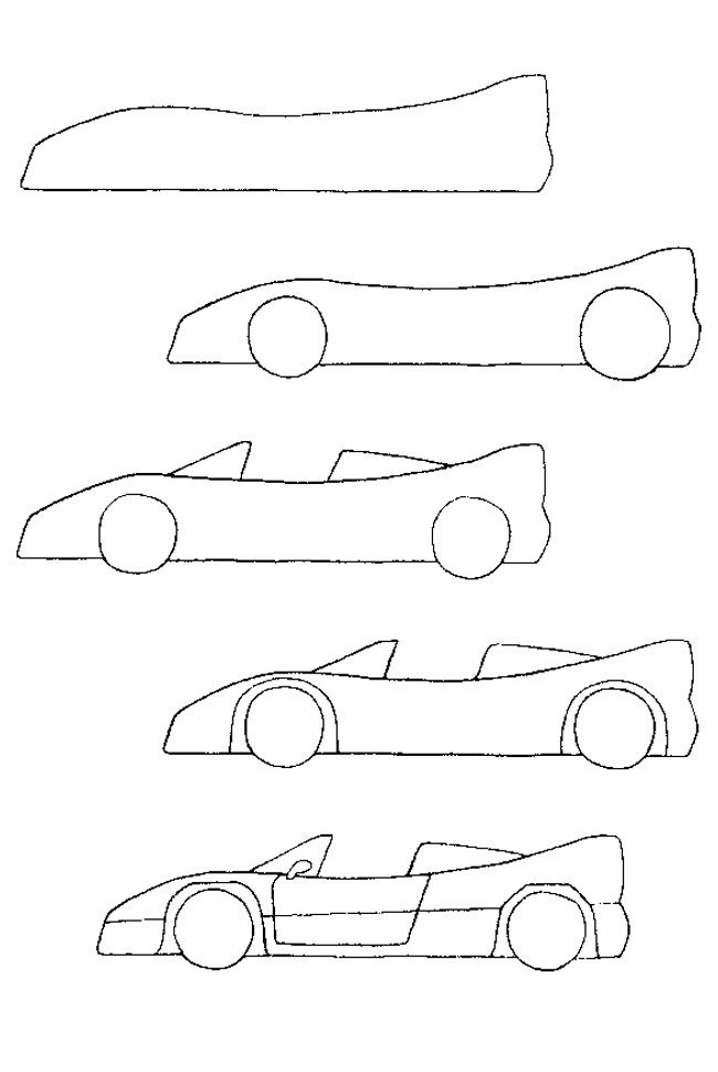 How to draw a car quick draw