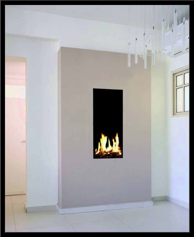 Narrow Gas Fireplace Insert Small