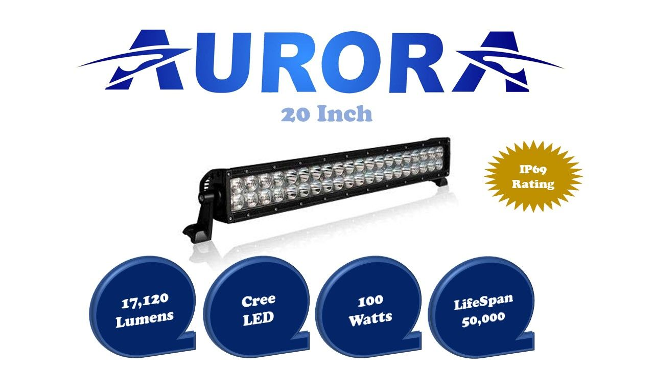 Aurora 20 Inch Dual Row Led Light Bar In 2018 Ip Wiring Harness Rated For 17120 Lumens At 200 Watts With A