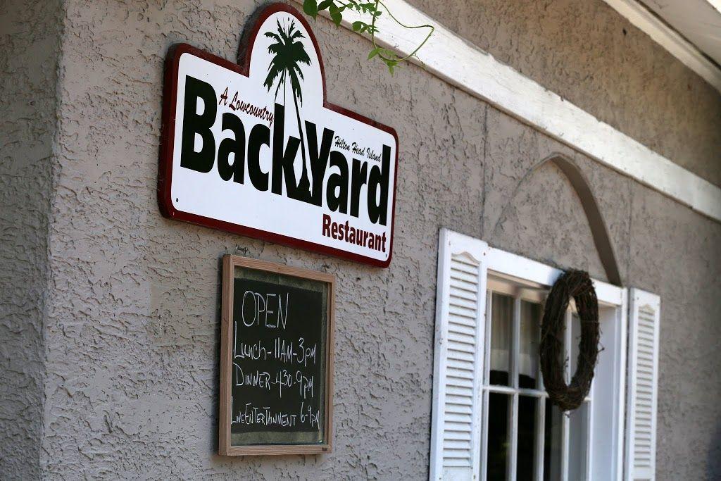 Low Country Cuisine at Backyard Restaurant, Hilton Head ...