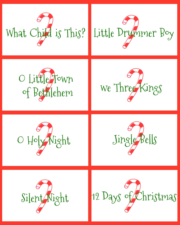 Christmas Carol Catch Phrase Game - Free Printable | Games