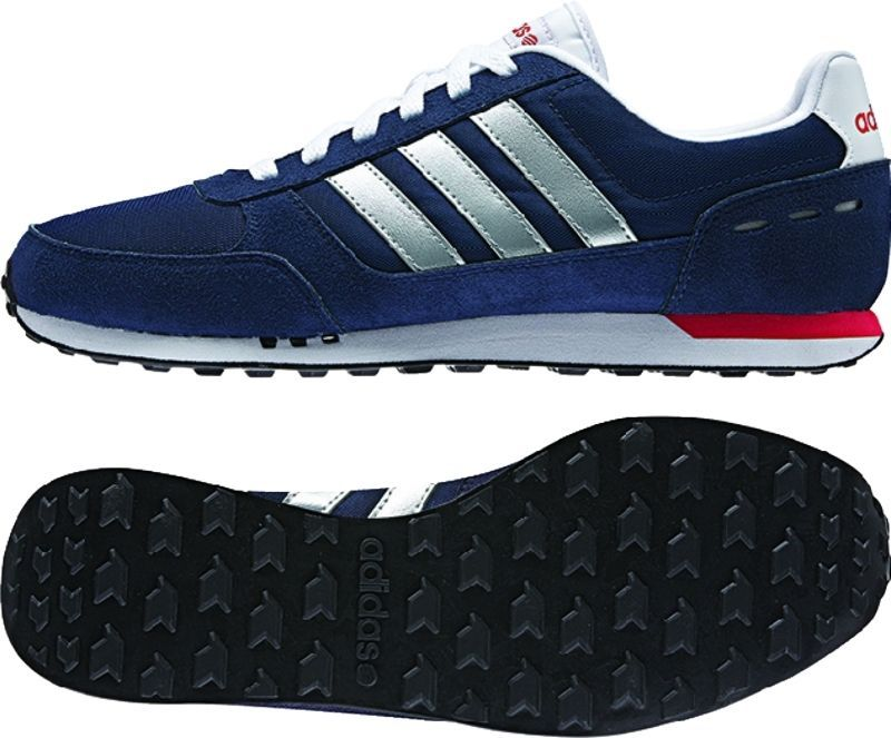 Men's Adidas NEO City Racer Navy Athletic Sneaker Casual