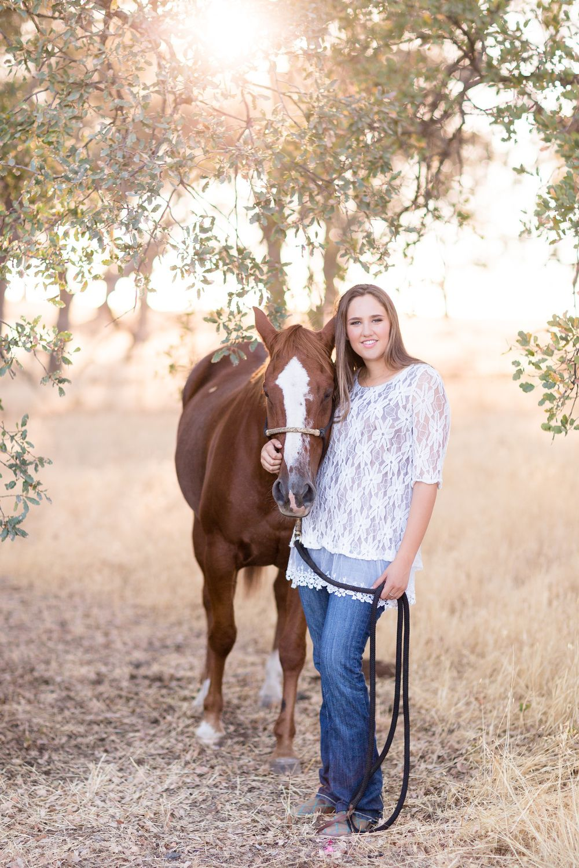 Senior Portrait with Horse | chico-senior-photography-Session-Portrait-TréCreative