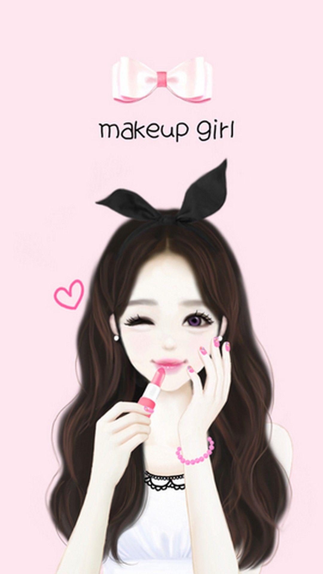Girly wallpaper for iphone best hd wallpapers - Cartoon girl wallpaper ...