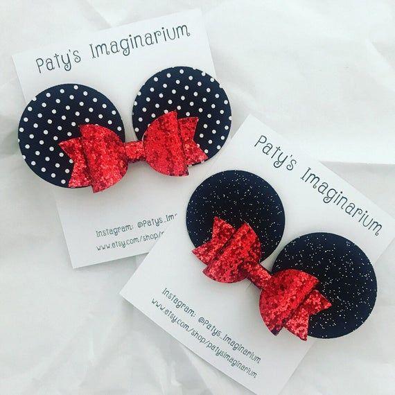 Baby Minnie Ears/Mouse Ears/ Baby Accessories/ Hair Clip/ Baby Headband/ Headband/ Custom Ears