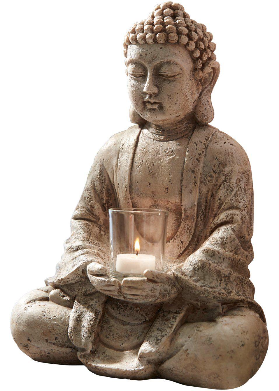 Deko Figur Buddha Mit Teelichthalter Mit Bildern Buddha Buddha Figur Buddha Deko