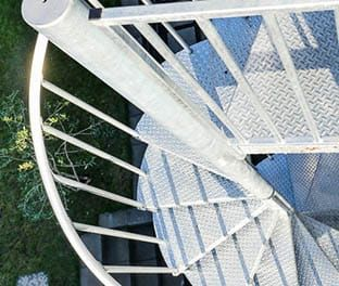 Best Galvanized Spiral Stair Product Options Paragon Stairs 400 x 300