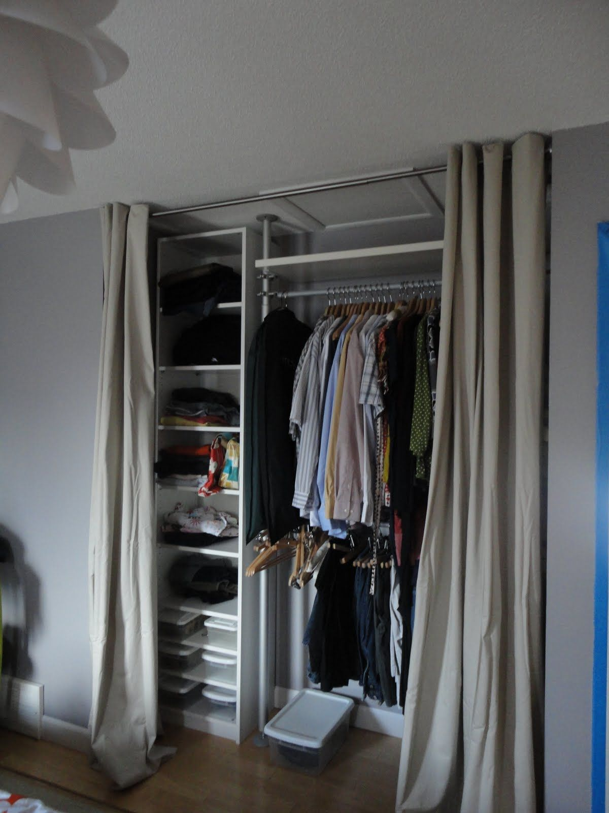 Delightful Add A Nook In Wasted Space For Extra Closet STOLMEN Closet Idea From Ikea