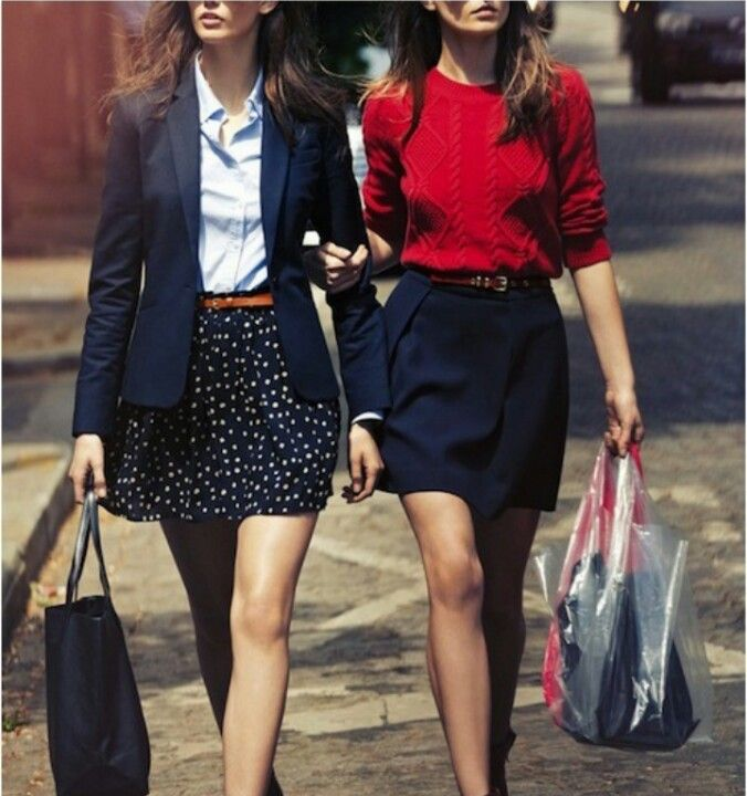 Effortless Style - love the skirt