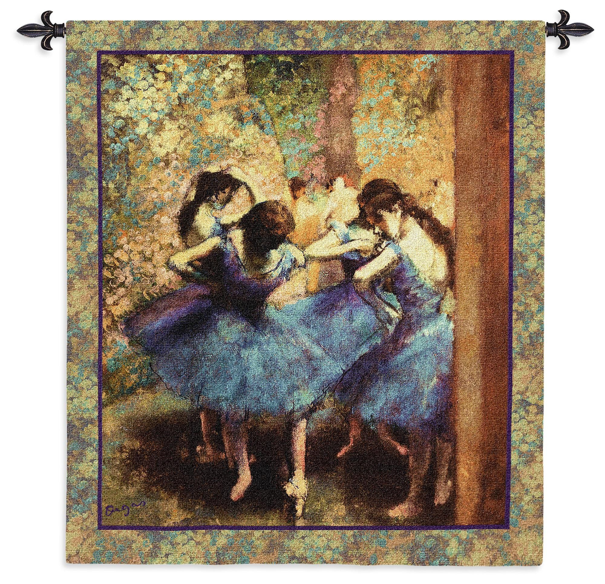 Tapestry, Dancers in Blue. Wall Art by Famous Artists - Think Tapestries! Dancers in Blue by Edgar Degas Wall Art, (1895) is an extraordinary work-of-art. This color palette is simply gorgeous and b..