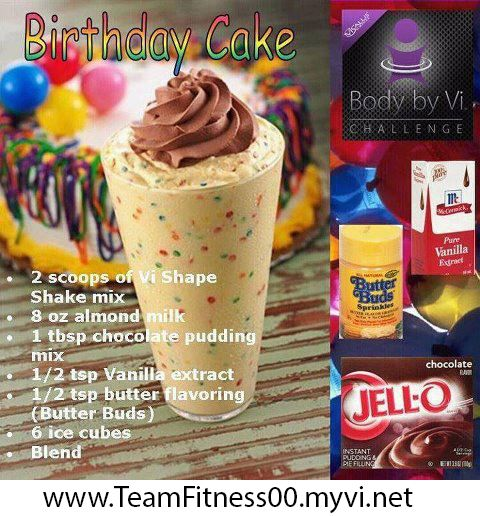 Birthday Cake Herbalife Shake Recipes Visalus Protein Shakes