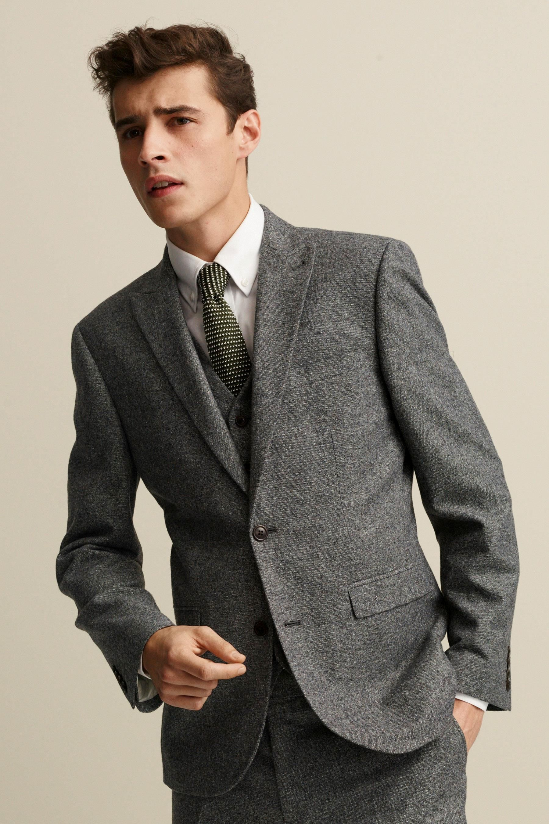 Buy Grey Donegal Suit: Trousers from the Next UK online ...