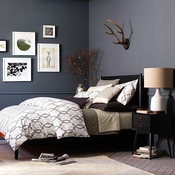 beautiful wandfarbe schlafzimmer schwarzes bett #2: möbel schlafzimmer modernes bett schwarz Mehr