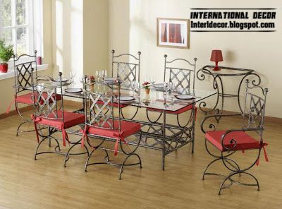 Indoor Iron Dining Tables And Iron Chairs Designs 2013 Iron Furniture Wrought Iron Furniture Furniture