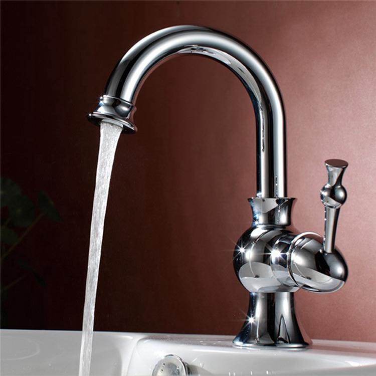 洗面水栓 バス水栓 浴室蛇口 冷熱混合栓 立水栓 水道蛇口 金色 クロム