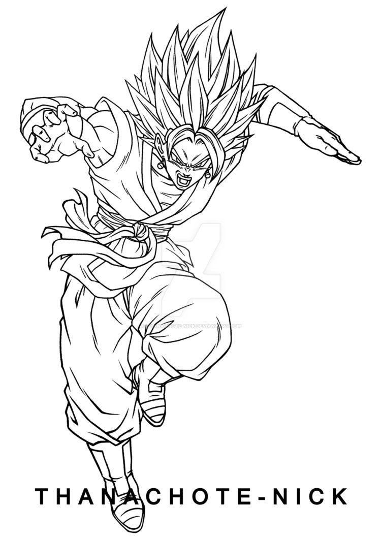 Vegito Ssgss Sdbh By Thanachote Nick Dragon Ball Artwork Dragon Ball Art Dragon Ball Super Art
