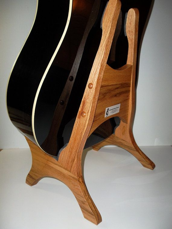 hand made solid oak acoustic guitar stand by kokopellistands etsy faves wooden guitar stand. Black Bedroom Furniture Sets. Home Design Ideas
