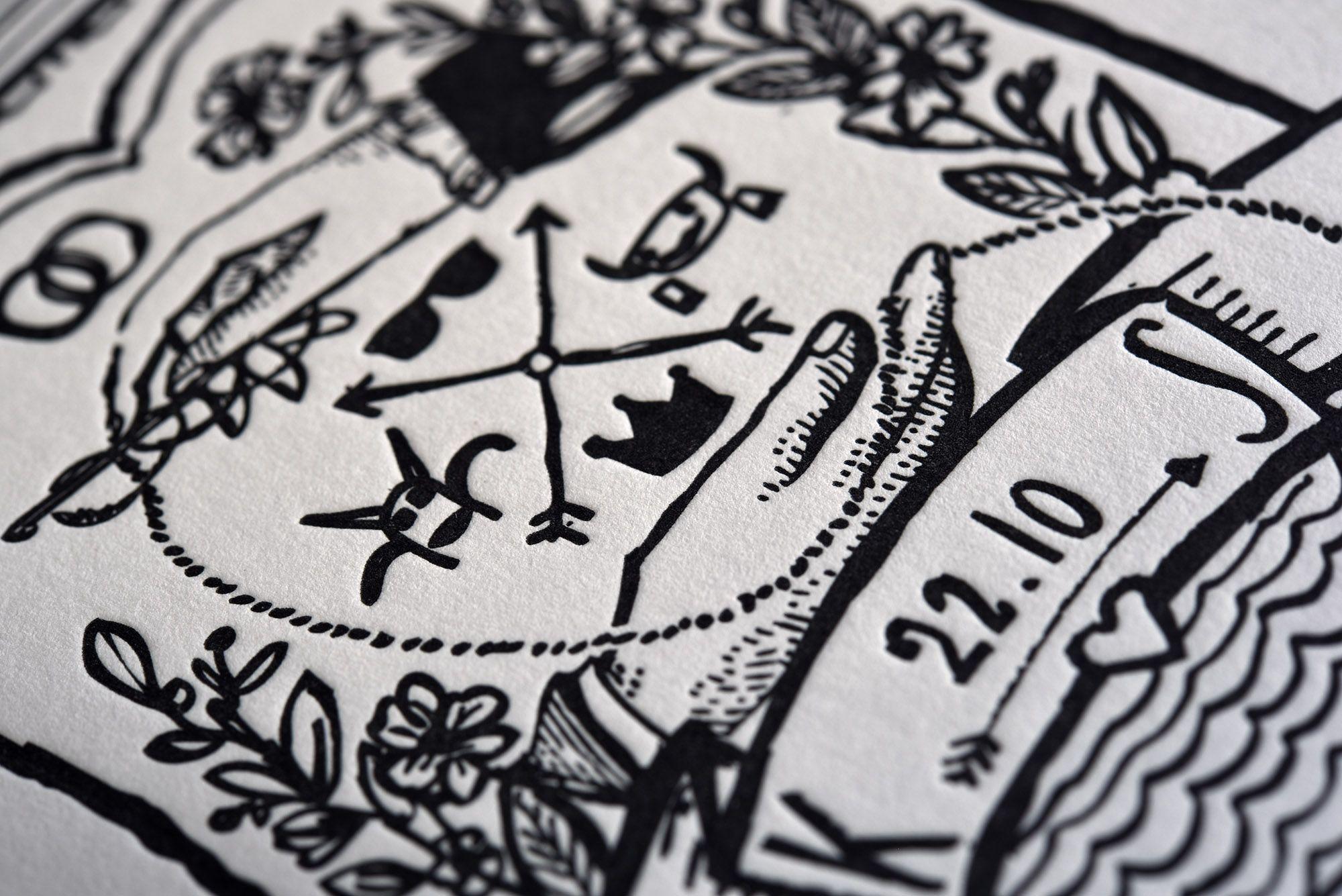 Letterpress Love. Einladungskarten Und Bierdeckel Für Deine Hochzeit. //  #letterpresslove #