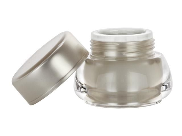 1 4 Oz 7 Mm Clear Champagne Acrylic Jar W Champagne Cap W Foil Liner 50 Off Jar Cosmetic Jars Champagne