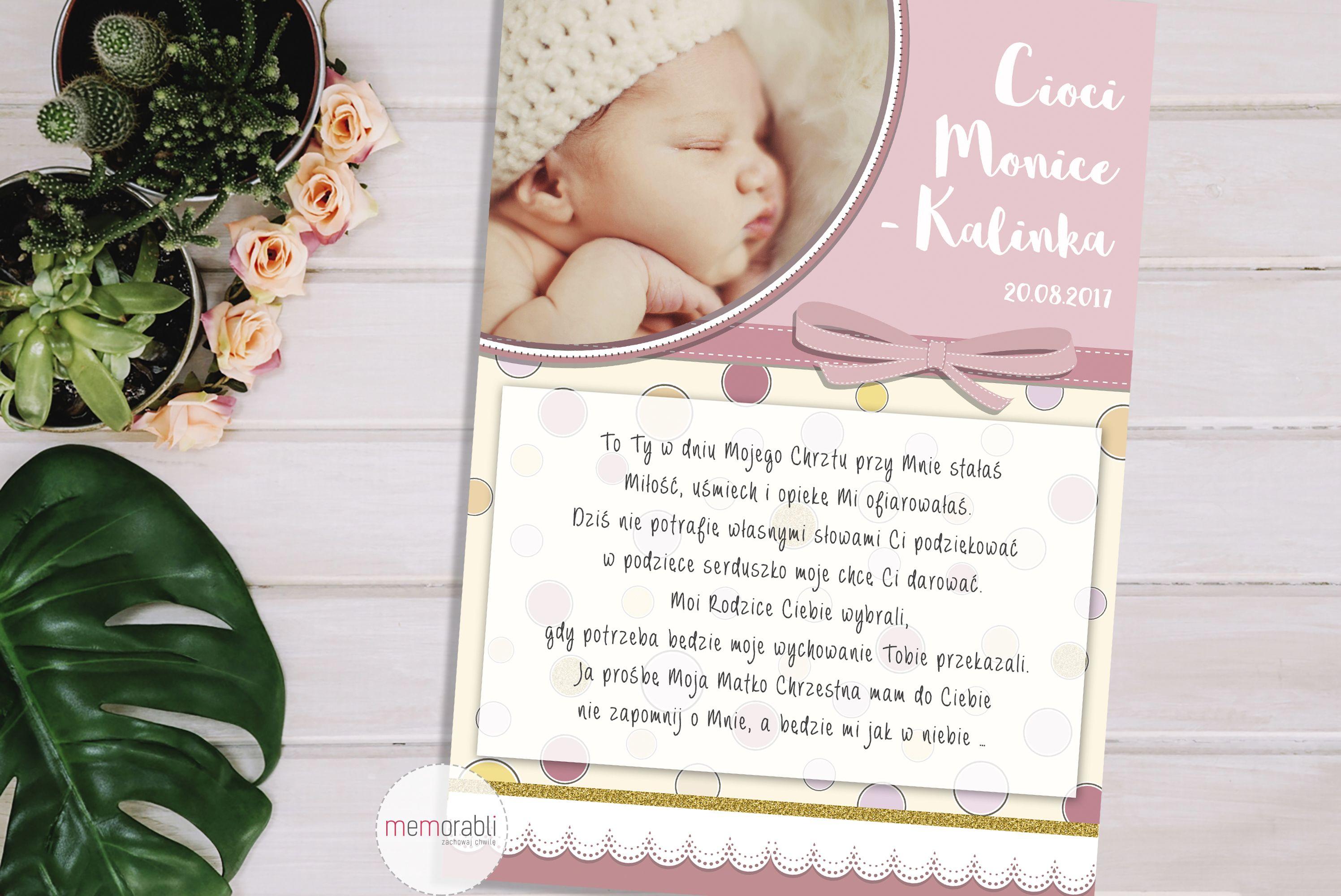 Plakat Z Podziekowaniami Dla Matki Ojca Chrzestnego Plakat