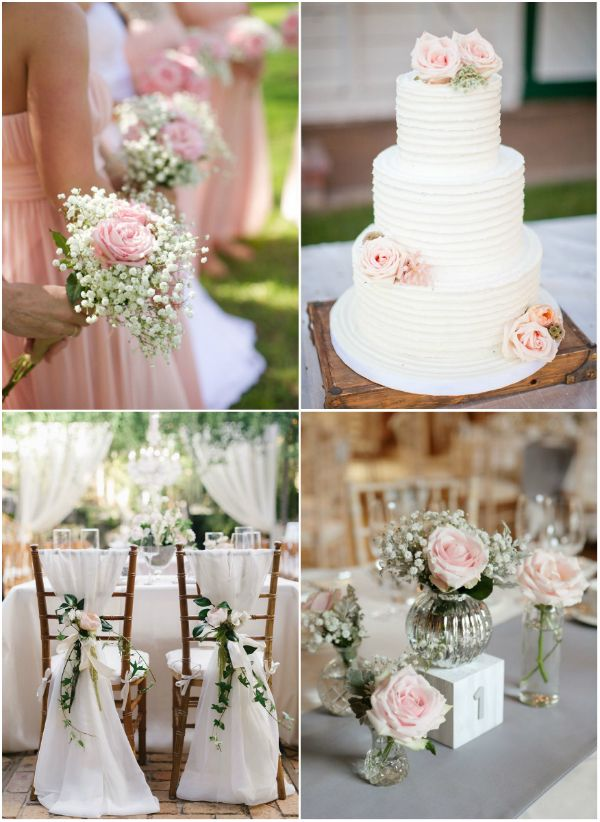 Romantische Blumen Dekoration F R Die Hochzeit 2015 2016
