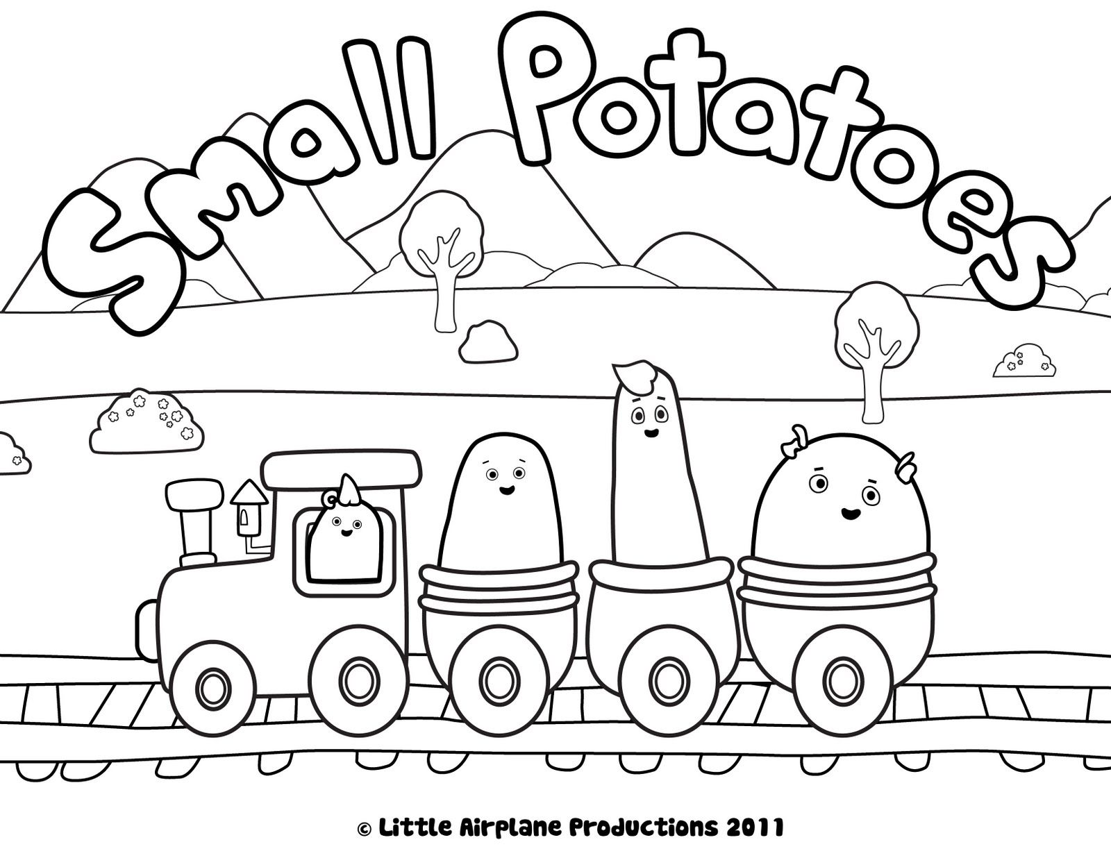 train coloring pages  small potatoes coloring pages