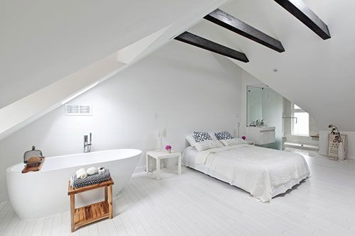 Grote Slaapkamer Ideeen : De grote slaapkamer bevindt zich op de derde verdieping op de zolder