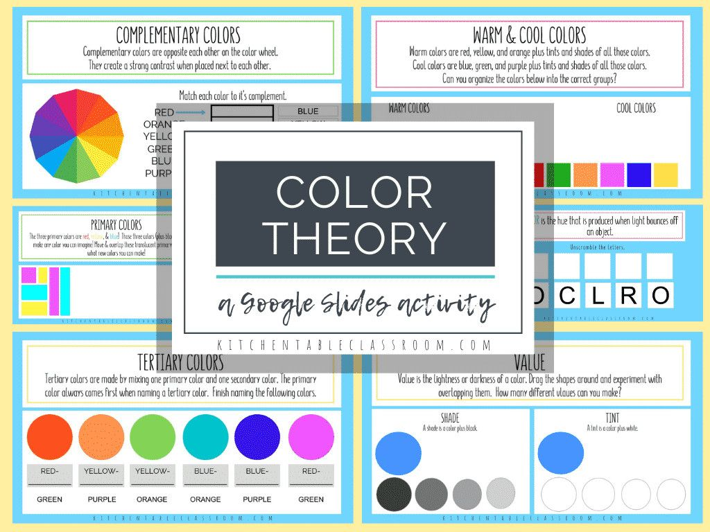 This Color Theory Slide Interactive Activity Will
