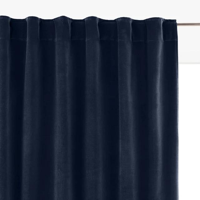 Velvet Single Hidden Tab Curtain (With Images)