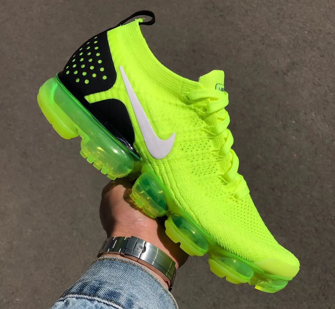 most popular look good shoes sale best Nike Air VaporMax 2 Flyknit Volt Release Date 942842-700 (2 ...
