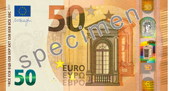 European Central Bank Introduces New 50 Euro Currency Exchange International