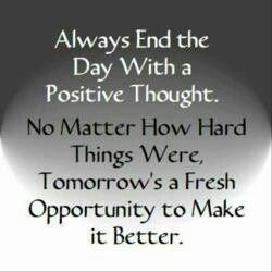 Tomorrows a fresh opportunity
