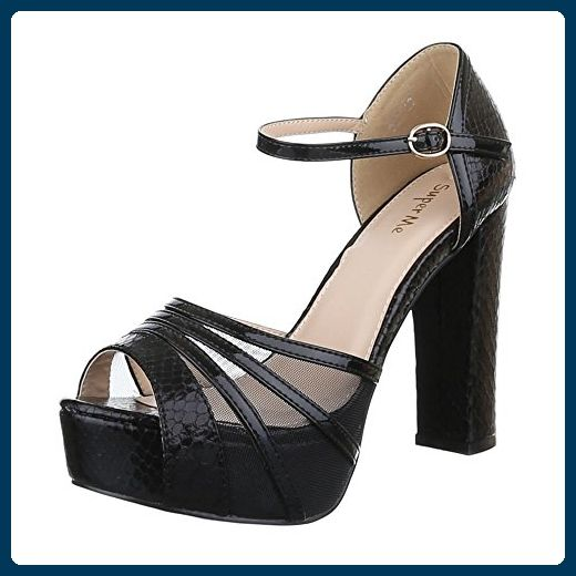 Angkorly Damen Schuhe Sandalen Pumpe - T-Spange - Stiletto - Sexy - Transparent Stiletto High Heel 11.5 cm - Schwarz 238-5 T 39 igpHhKSkn