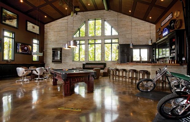 Large Man Cave With High Ceilings Man Cave Man Cave Home Bar Home