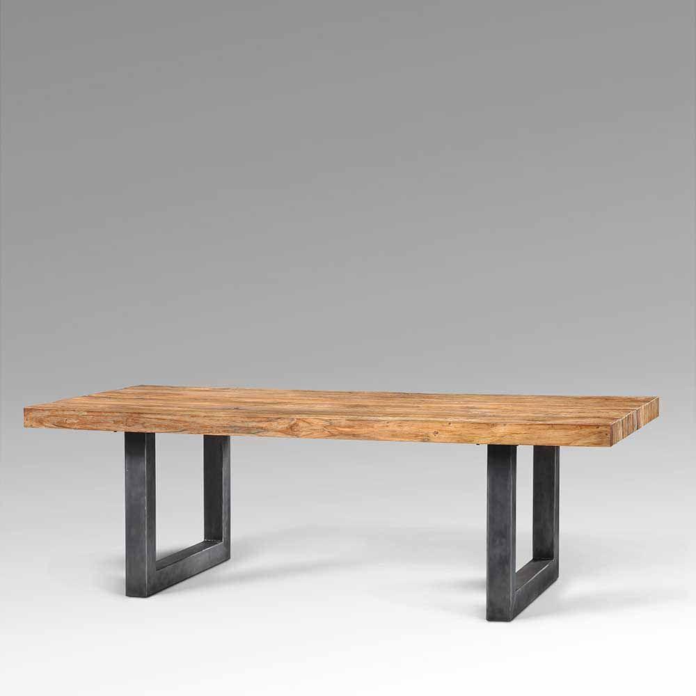 Esszimmertisch aus Teak Recyclingholz Metall Jetzt bestellen unter ...