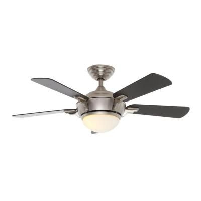 Hampton bay midili 44 in brushed nickel indoor ceiling fan 68044 brushed nickel indoor ceiling fan 68044 at the home depot mobile aloadofball Image collections