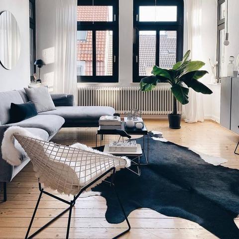 Cowhide Rug In Modern Living Room Rugs In Living Room Cowhide Rug Living Room Hide Rug Living Room