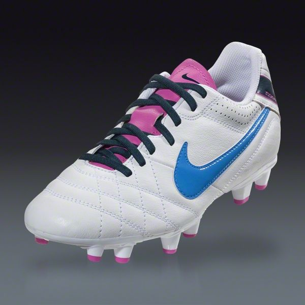 Nike Women's Tiempo Natural IV Leather FG - White/Club Pink/Armory Navy/ · Soccer  ShoesSoccer ...