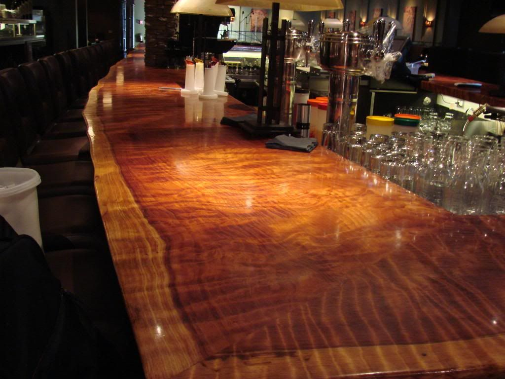 Perfect Bar Top Epoxy Liquid Glass Finish